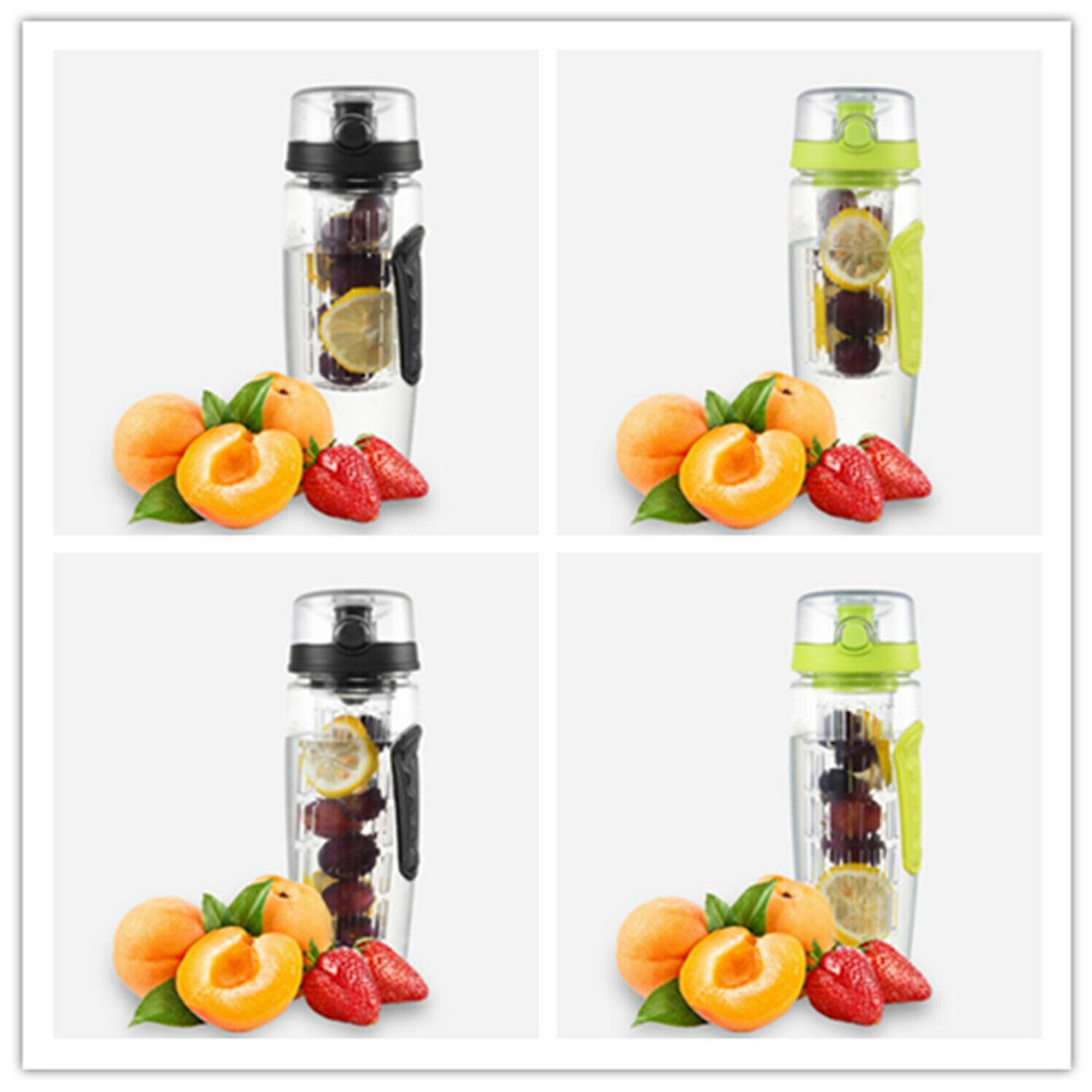 32oz fruit infuser water bottle four type
