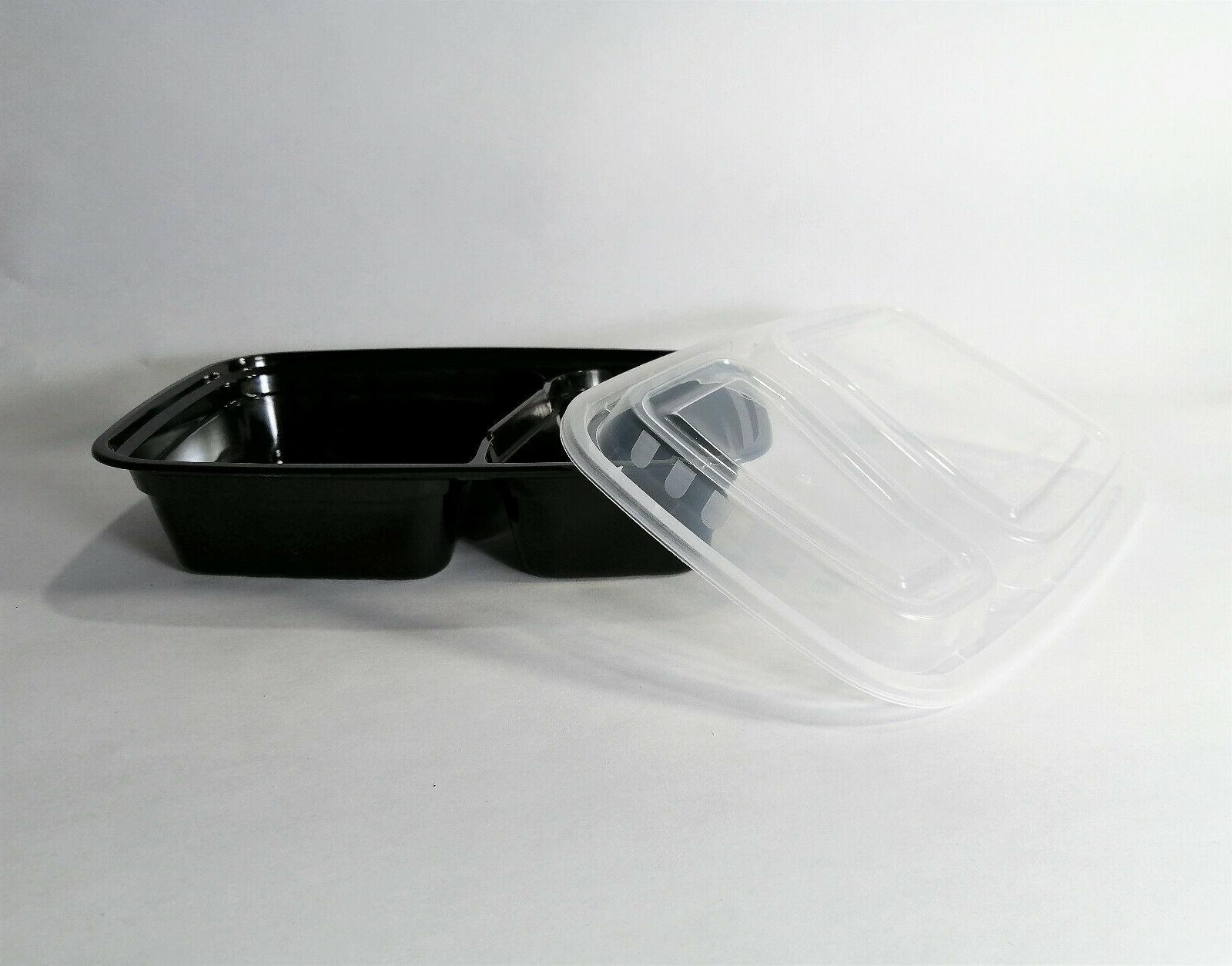 Containers with 2 Compartments, Microwavable, BPA