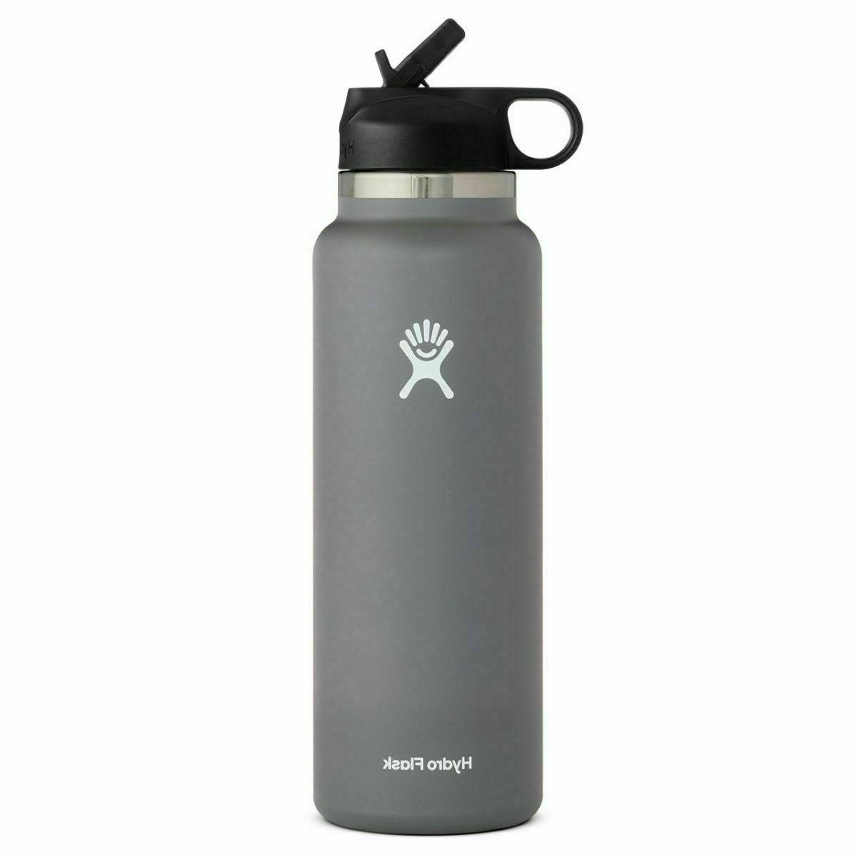 32oz Steel Water Bottle New with Straw Lid