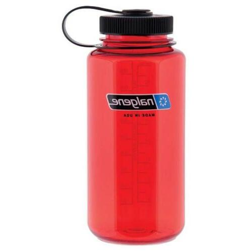 32oz tritan wide mouth bottle red