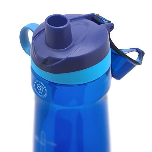 Pogo Water Bottle with Blue, 18 oz.