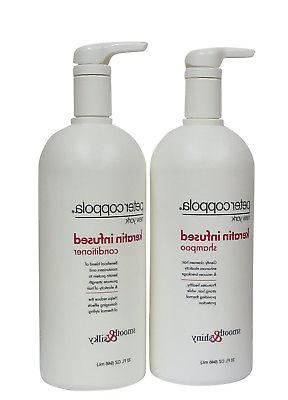 keratin infused shampoo and conditioner smooth 32