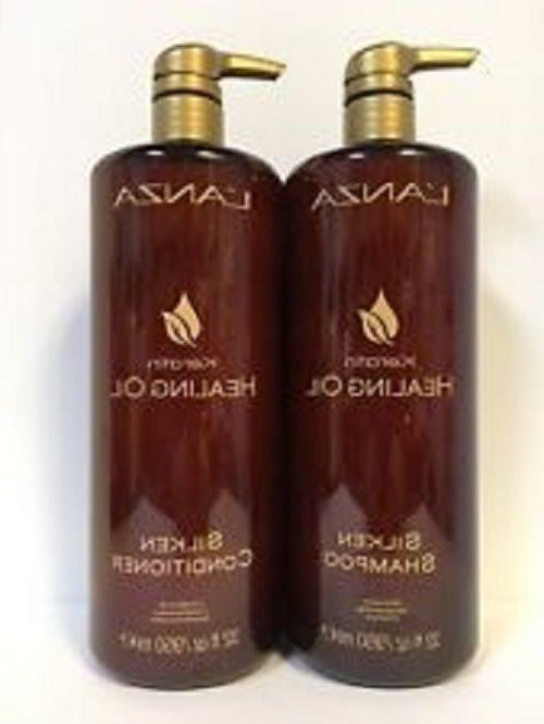 lanza keratin healing oil shampoo and conditioner