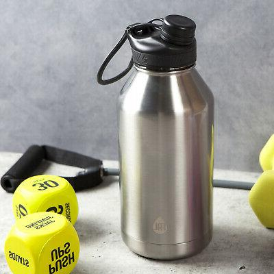 Large 64 oz Water Bottle Insulated Cold Wide Mouth
