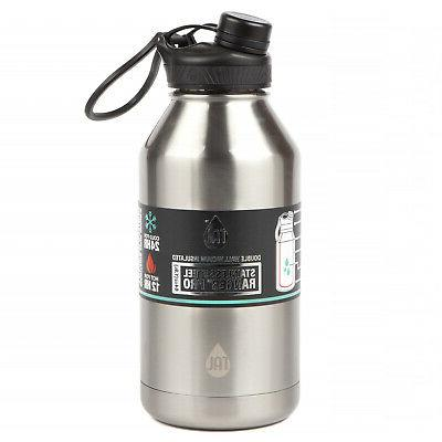 Large 64 Water Bottle Mouth Black