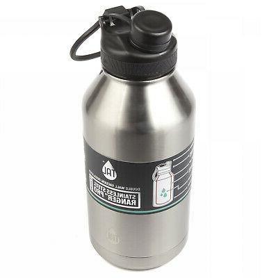 Large 64 Bottle Insulated Cold Wide Mouth Black