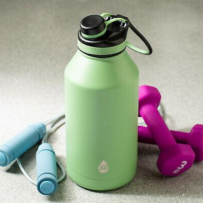 large 64 oz water bottle double wall