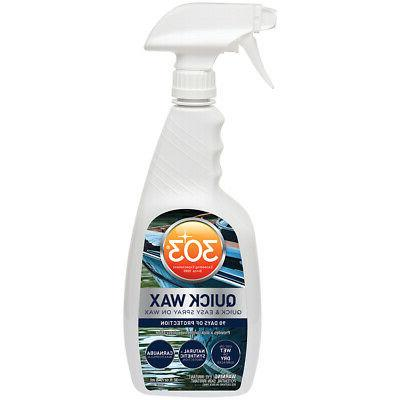 303 Products Marine and RV Quick Wax 32 oz Spray Bottle