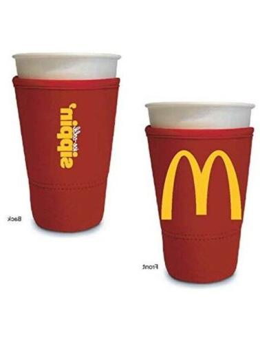 McDonald's Koozie Red LG Insulated Neoprene Cup Arch