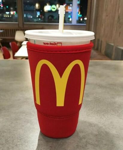 mcdonalds koozie red large 32oz thermal insulated