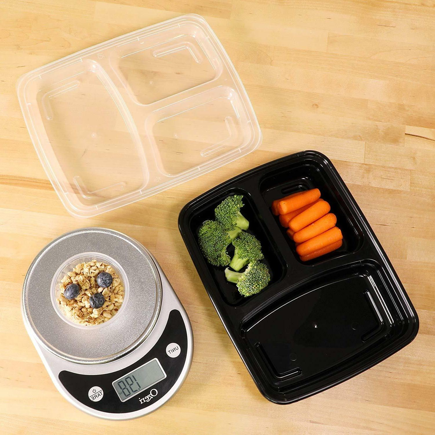 Freshware Prep Containers 3 Lids BPA Free