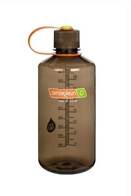 Nalgene Narrow Mouth Loop Top Bottle Woodsman w/Brown Lid Free
