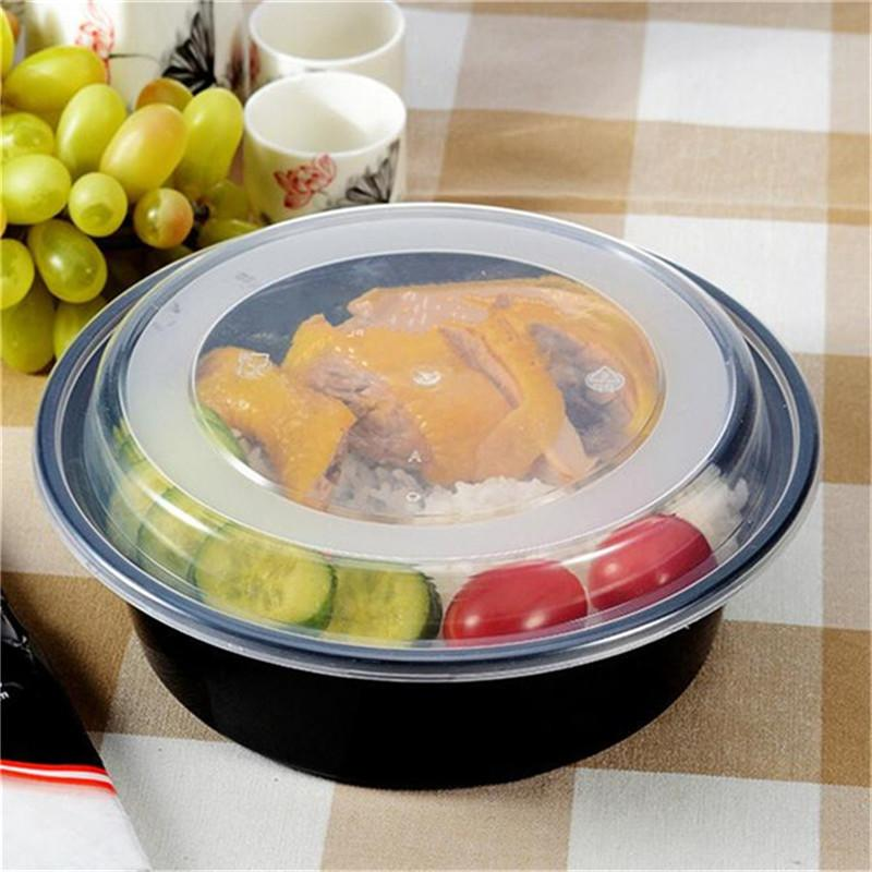 Newest 1 Compartment <font><b>OZ</b></font> Round Bento Lunch Boxes Microwavable Meal Container Tableware Dinnerware