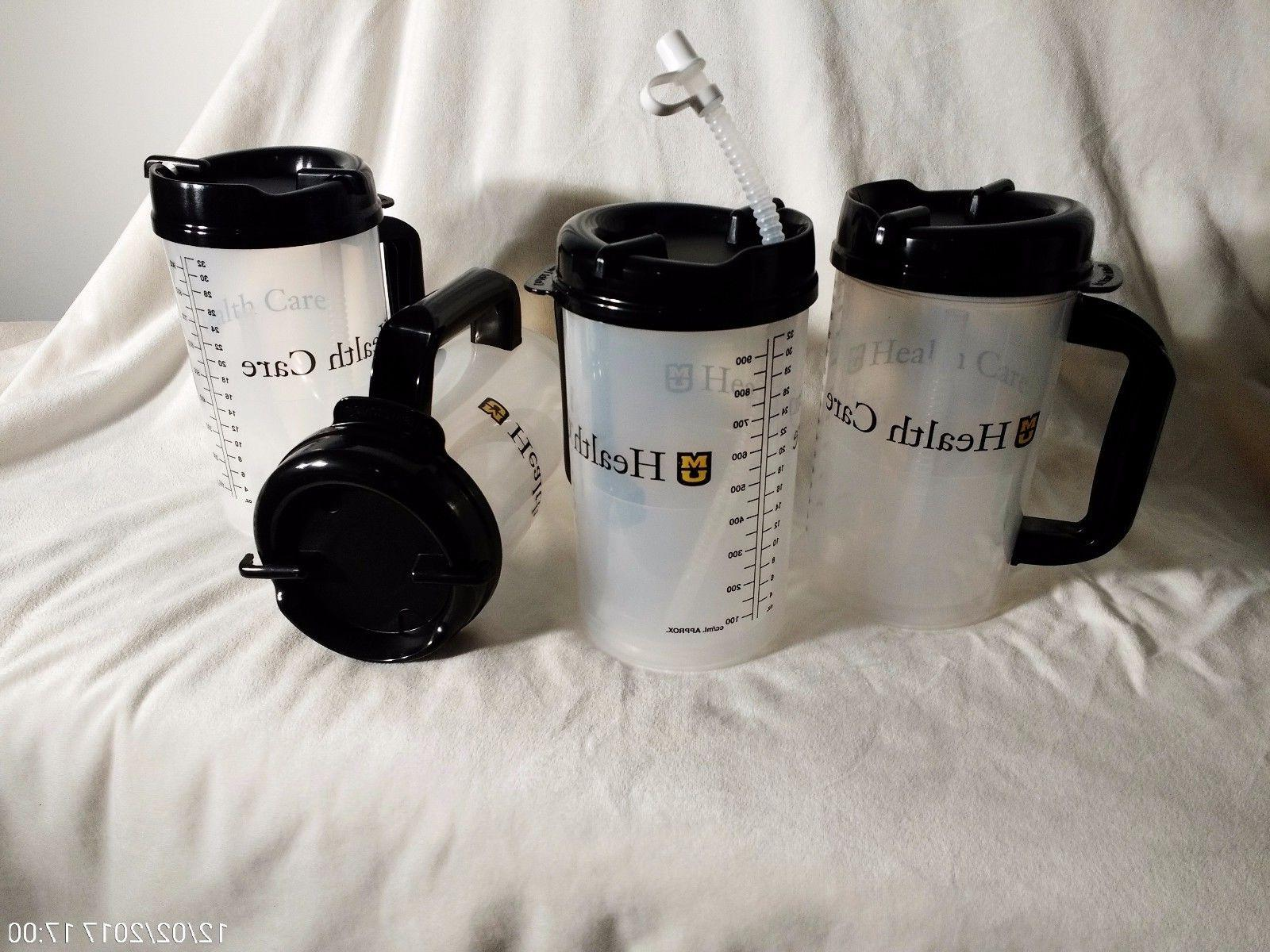 New of 4, 32 Whirley TM-32 Thermo Hospital Mug with Swivel