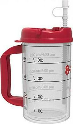 Hydr-8 Red 32ounce Air-Insulated Water Bottle
