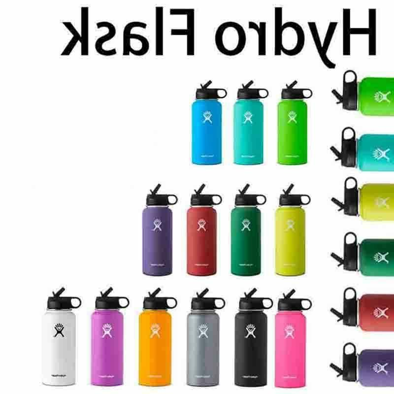 stainless steel water bottle thermos straw lid