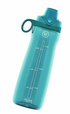 Pogo Tritan Water Bottle, 32 Oz. Chug Lid Blue Atoll