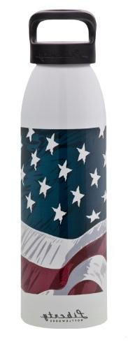 Liberty Bottleworks W.O.W. Flag Aluminum Water Bottle, Made