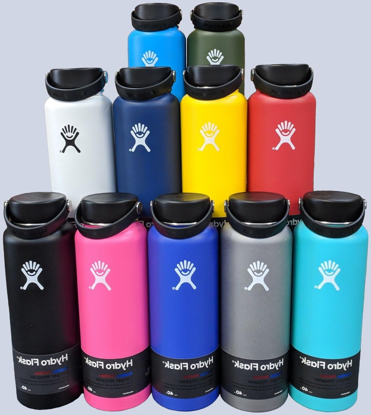 wide mouth stainless steel bottle with flex
