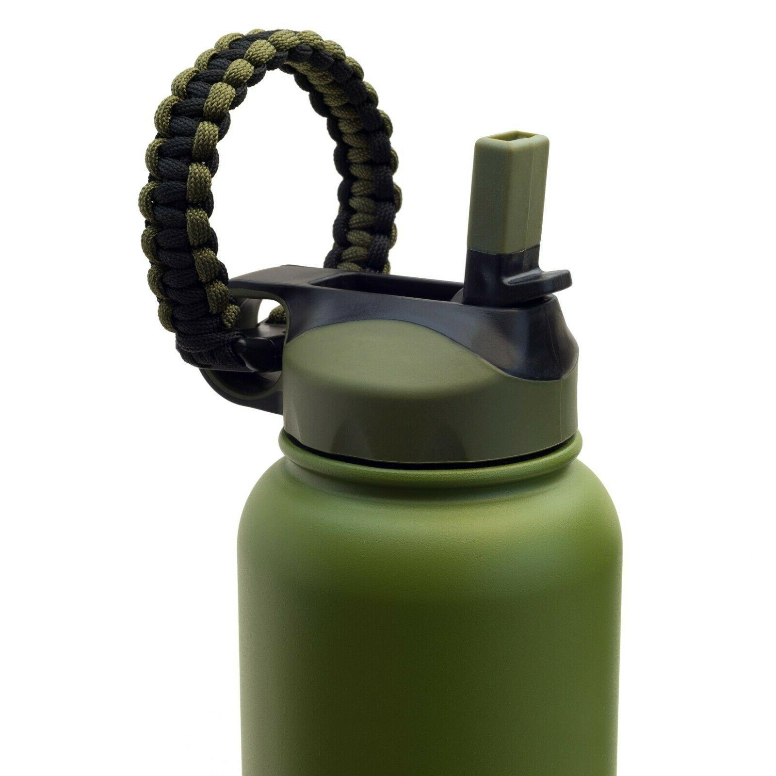 Wide Mouth Flip Straw Lid Paracord + Silicone Hydro