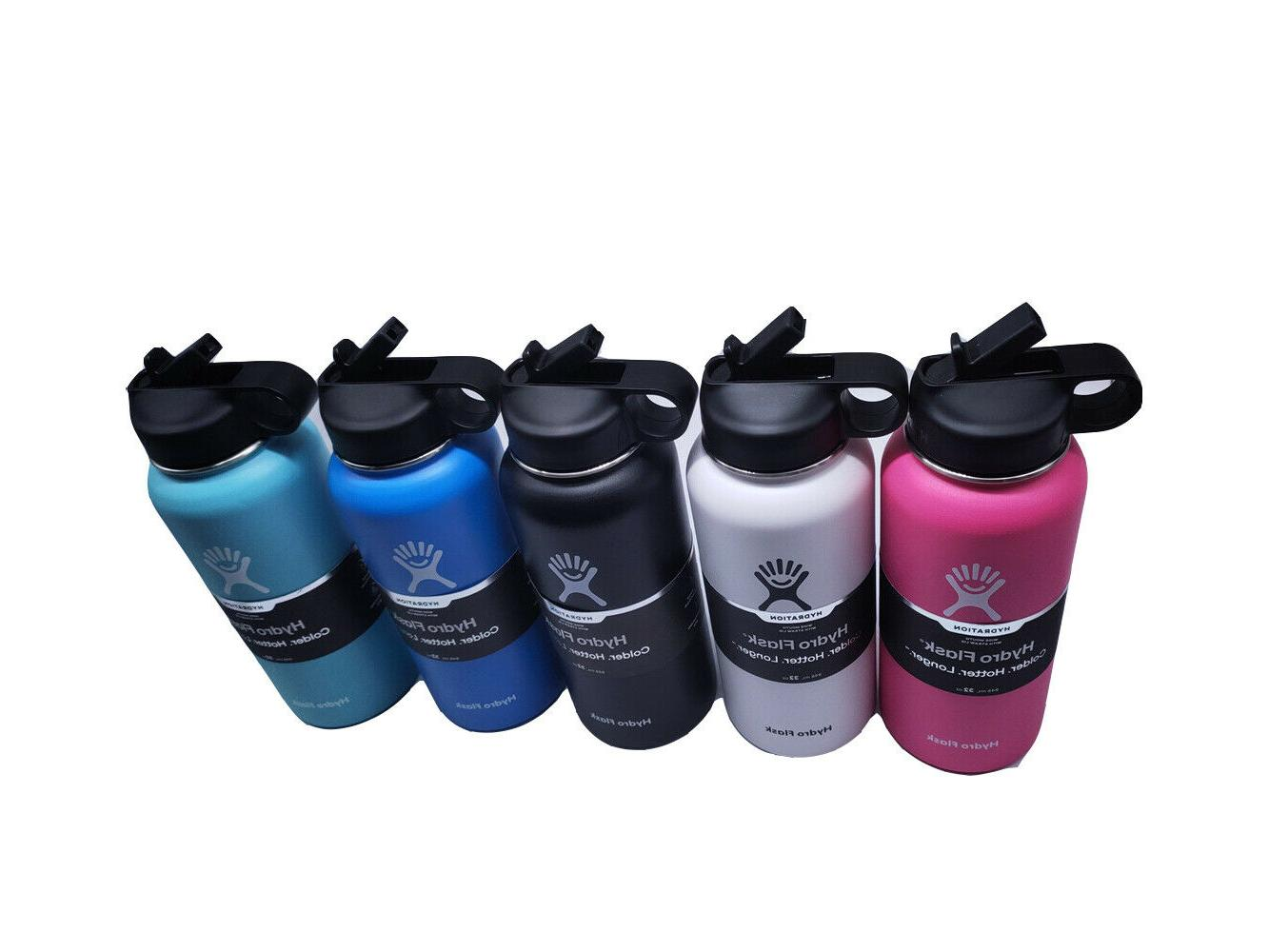 32 oz Water bottle Stainless , Vacuum Straw Lid
