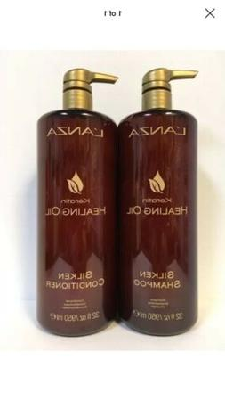 Lanza Keratin Healing Oil Shampoo and Conditioner 32 oz NEW