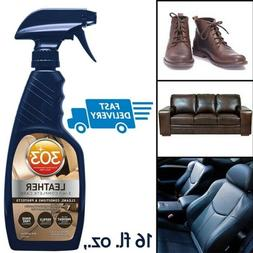 303 Leather Cleaner and Conditioner - UV Protectant- Cleans,