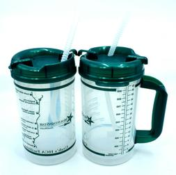 Lot of 2x 32 oz Hospital Mug with Jade Lid Insulated Cold Dr