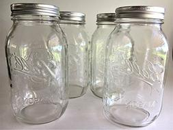 Ball Mason Jar-32 oz. Clear Glass Ball Collection Heritage S