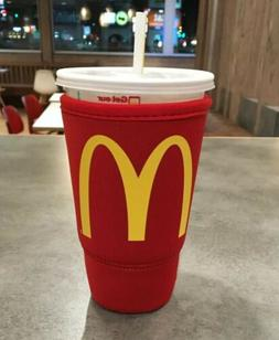 McDonalds Koozie JAVA SOK Red Large 32oz Thermal Insulated N