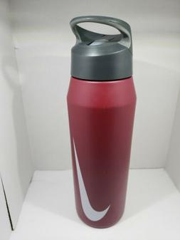 NEW Nike 32oz Maroon color metal insulated straw water bottl