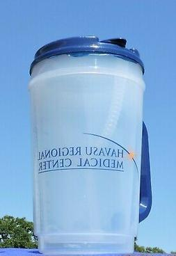 Plastic Insulated Clear Thermo 32oz Mug Bendable Straw & Blu