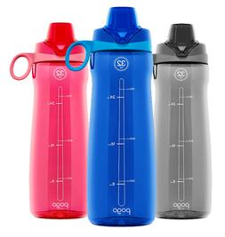 Pogo Plastic Water Bottle BPA-Free Gym Fitness Sports with C