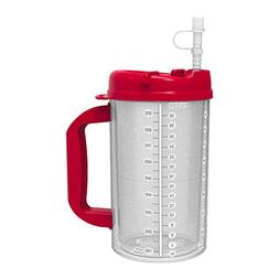 2 Pack of 32 oz Red Double Wall Insulated Hospital Mugs - Co