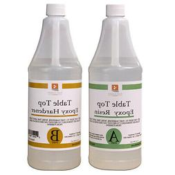 TABLE TOP EPOXY RESIN 64 oz Kit. FOR SUPER GLOSS COATING
