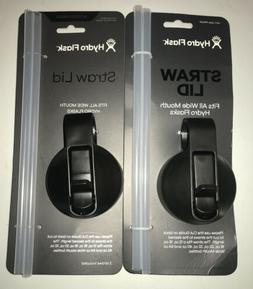 Two NEW HYDRO FALSK STRAW LID Fits all Wide Mouth bottles 18