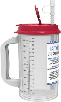 32 Oz W.E. Insulated Cold Drink Hospital Mug with Red Lid