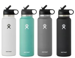 Hydro Flask Water Bottle - Wide Mouth Straw Lid 2.0 - Multip