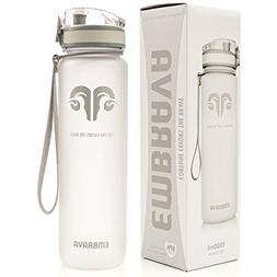 Embrava Best Sports Water Bottle - 32oz Large - Fast Flow, F