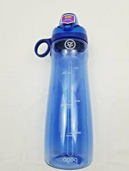 Pogo Water Bottle with Chug Lid 32 oz. BPA-Free Plastic Blue