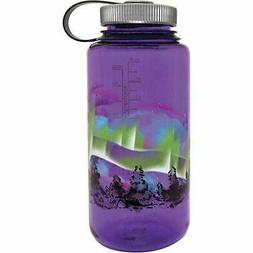 Nalgene Wide Mouth 32oz Loop Top Water Bottle Purple Earth w