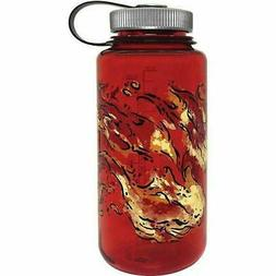 Nalgene Wide Mouth 32oz Loop Top Water Bottle Red Fire w/Sil