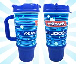 x1 RaceTrac Gas Station 32 OZ Mug Cup Blue Insulated Double